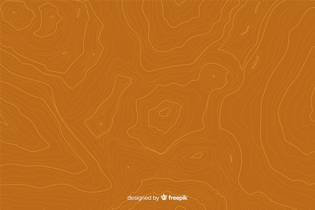 Topografische lijnenachtergrond op oranje schaduwen