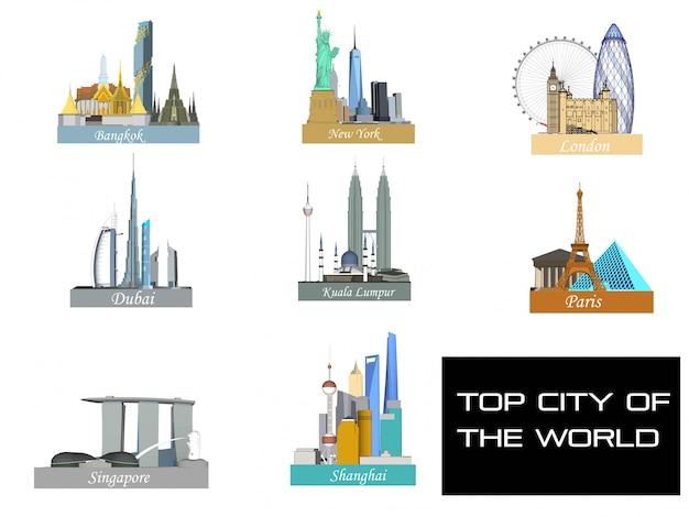 Topsteden in de wereld