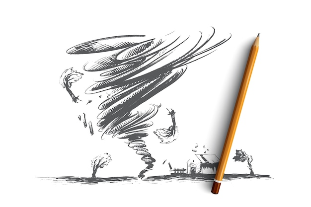 Tornado concept illustratie