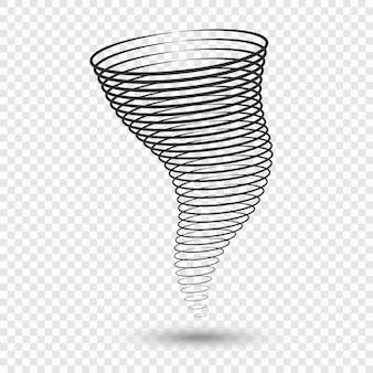 Tornado-illustraties. symbolen voor weersomstandigheden