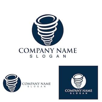Tornado logo symbool vector illustratie ontwerp