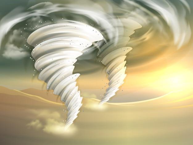 Tornado wervelt illustratie