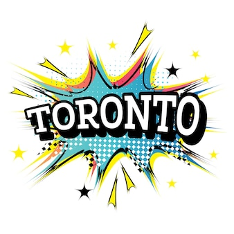 Toronto canada comic-tekst in pop-artstijl