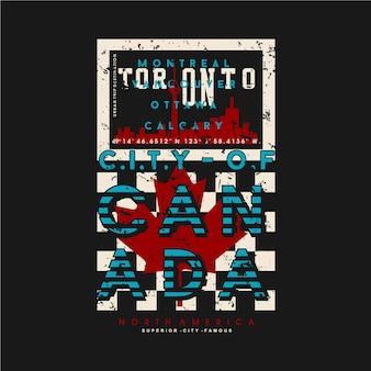 Toronto canada grafisch typografieontwerp