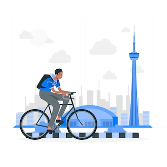 Toronto concept illustratie