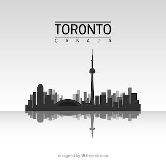Toronto skyline silhouet