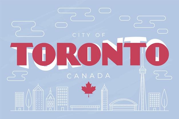 Toronto stad belettering