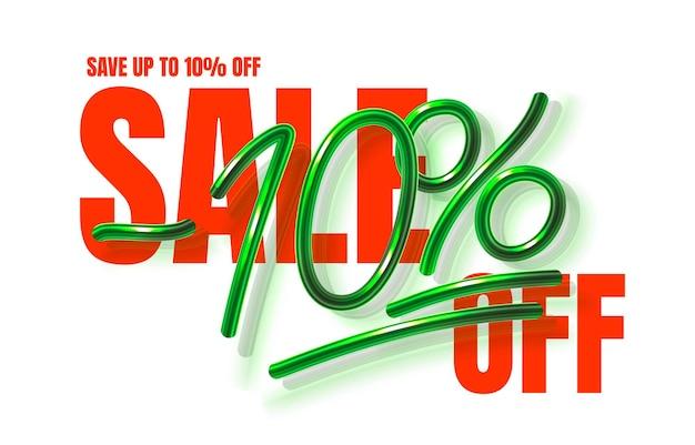 Tot uitverkoop banner promotie flyer marketing label vector
