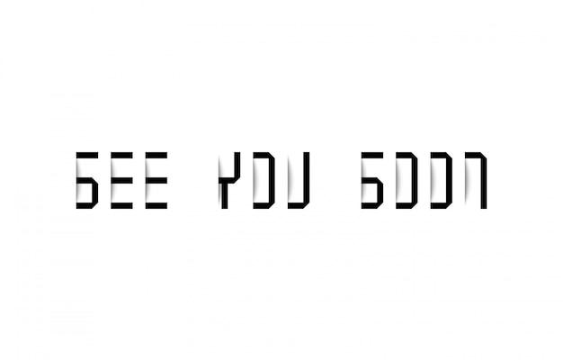 Tot ziens typografie met schaduweffect