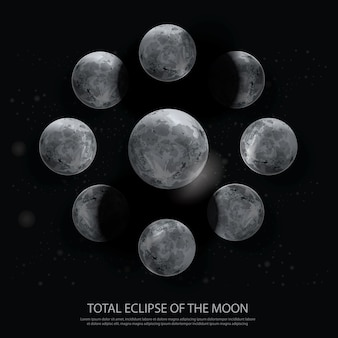 Total eclipse of the moon illustratie