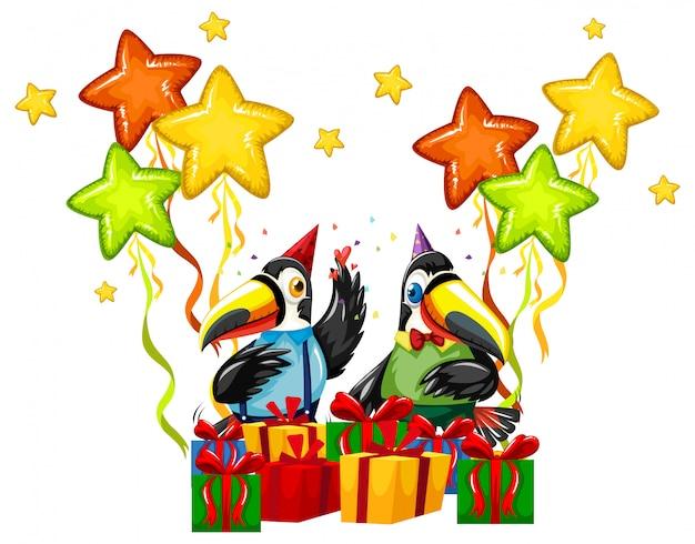Toucan viert een verjaardag
