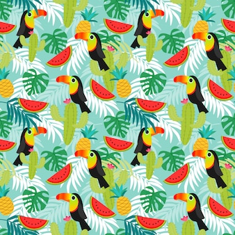 Toucan vogels patroon.