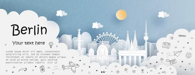 Tour en reizen adverteren met reizen naar berlijn