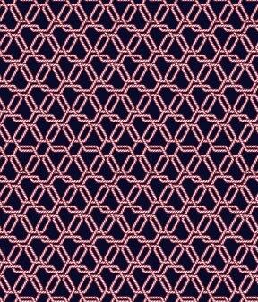 Touw knoop naadloze patroon