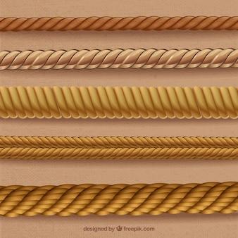 Touwen in spiraal vormen