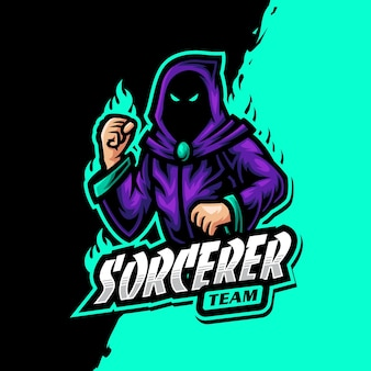 Tovenaar mascotte logo epsort gaming