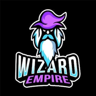 Tovenaar rijk esport logo sjabloon