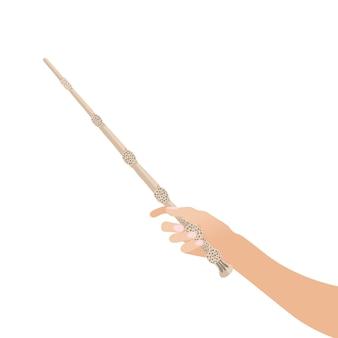 Toverstaf hand voor heksen en tovenaars vintage sticks hekserijscholen fantasy games