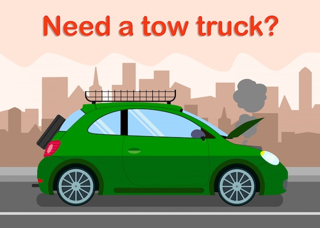 Tow truck advertising banner