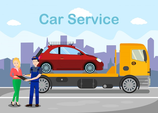 Towing services advertising