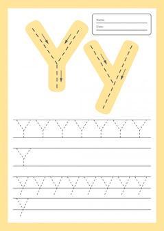 Trace letters werkblad a4 voor kleuters en schoolgaande kinderen.