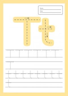 Trace letters werkblad