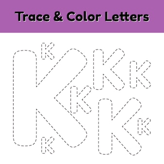 Trace lijn brief voor kleuters en kleuters.
