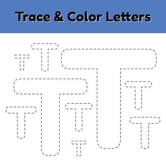Trace-lijnbrief voor kleuters en kleuters.