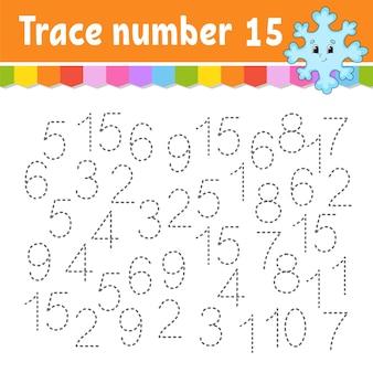 Trace nummer illustratie