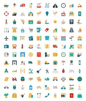 Trace solid gekleurde pictogrammen