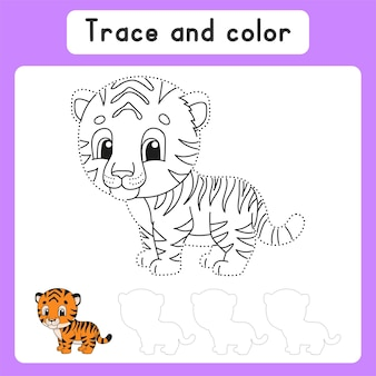 Traceer en kleur kleurplaat voor kinderen