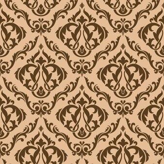Tracery bruin naadloos patroon