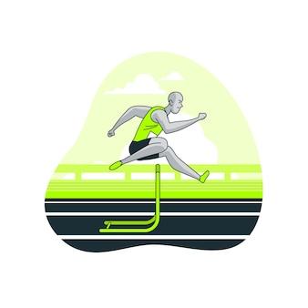 Track en veld concept illustratie