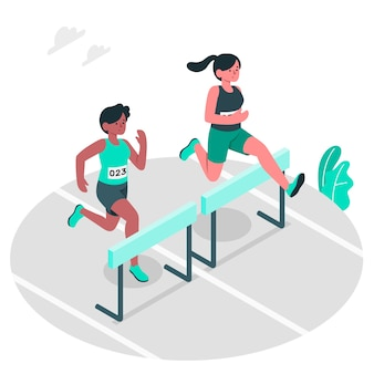 Track & field concept illustratie