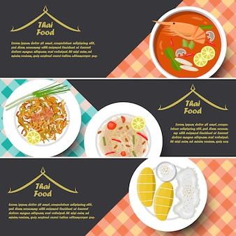 Traditie thaise gerechten banner