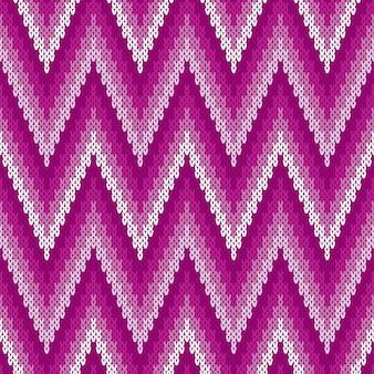 Traditioneel abstract chevron gebreid patroon