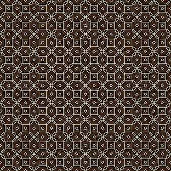 Traditioneel batik naadloos patroonbehang als achtergrond in geometrische vormstijl