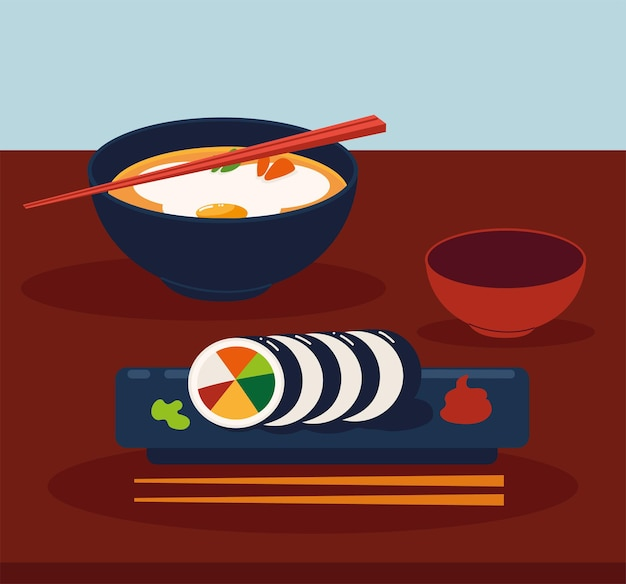 Traditioneel eten aziatisch