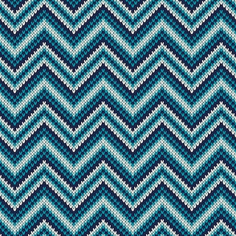 Traditioneel fair isle abstract chevron gebreid patroon. naadloos ornament voor sweaterontwerp