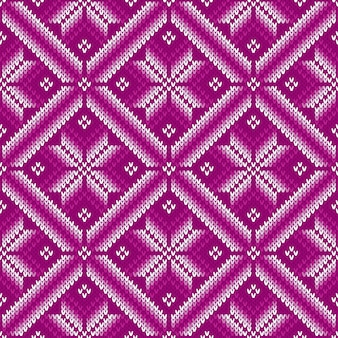 Traditioneel fair isle gebreid patroon. naadloos breien trui design