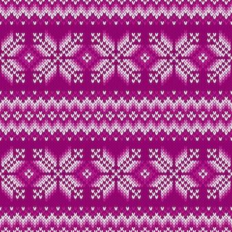 Traditioneel fair isle gebreide trui patroonontwerp