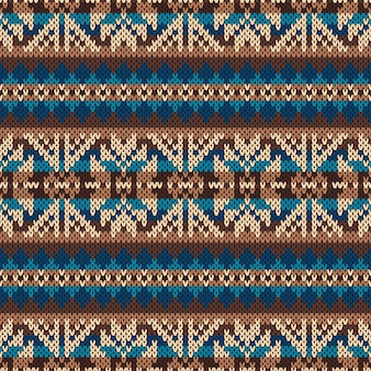 Traditioneel fair isle-patroon