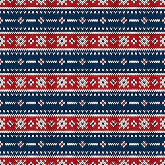 Traditioneel fair isle-stijl naadloos breipatroon. kerstmis en nieuwjaar achtergrond. gebreide trui design.