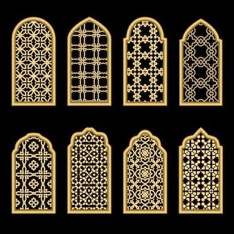 Traditioneel goud arabisch venster