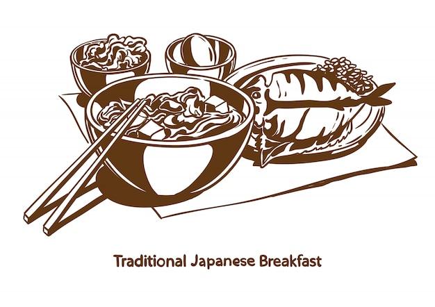 Traditioneel japans ontbijt