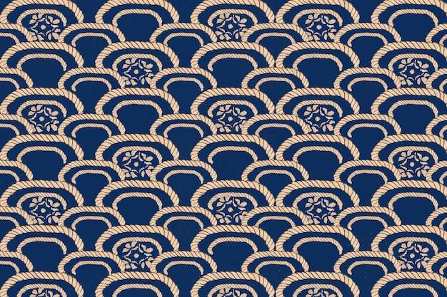 Traditioneel japans patroon, remix van kunstwerken van watanabe seitei