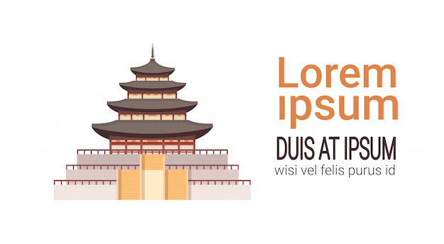 Traditioneel korea palace south korean landmark isolated