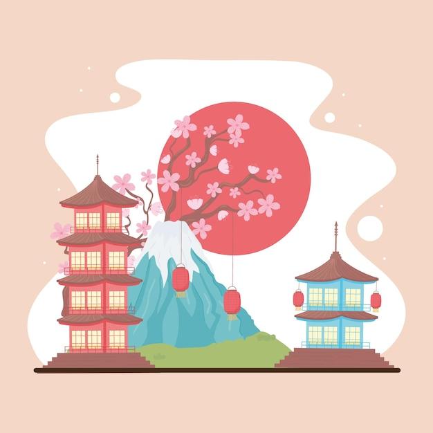 Traditioneel landschap japans