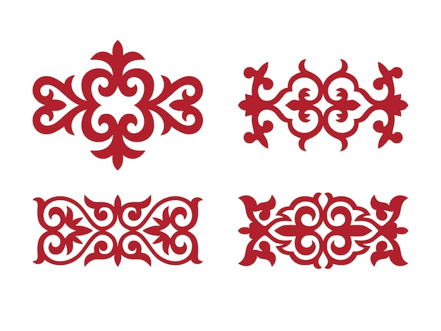 Traditioneel ornament van middenazië