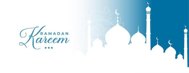 Traditioneel ramadan kareem islamitisch bannerontwerp
